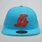 New Era 59fifty LA Los Angeles Lakers Ice Blue Fitted 5950 Cap Hat