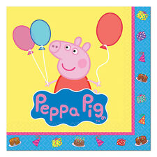 Peppa Pig Birthday Party Favors Beverage Small Dessert Napkins (Set of 16)