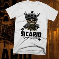 Sicario Narco Hitman T-shirt Mexico Medellin sinaloa new. Cotton tee
