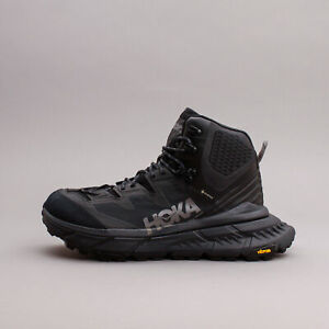 Hoka One One Tennine Hike GTX Gore-Tex Black Dark Gull Grey Men Boots 1113510
