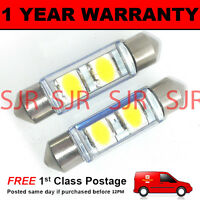 2X WHITE CANBUS NUMBER PLATE INTERIOR SAMSUNG SMD LED BULBS 30 36 39 42 44MM OE