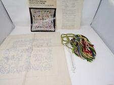 NEW Smithsonian Institution Four Pane Window Pillow Mazaltov embroidery kit 339
