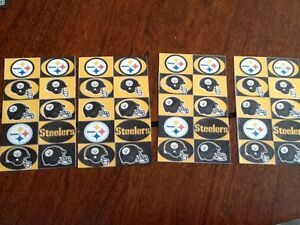 40 PITTSBURGH STEELERS GLOSSY STICKERS 4 SHEETS X 10 MINI STICKERS