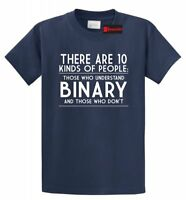 10 Kinds Of People Binary Funny T Shirt Programmer Nerd Geek Tee