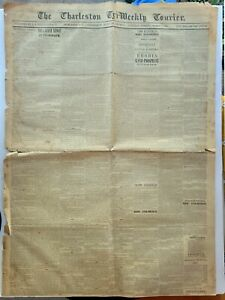 NEWSPAPER – CONFEDERATE STATES OF AMERICA – CHARLESTON TRI- WEEKLY COURIER MARCH