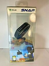 3Plus SNAP Wireless Black Wristband Activity Tracker Rechargeable 3PLUS-S01K
