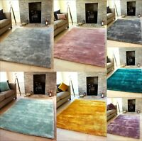 NEW LUXURIOUS THICK PILE RUG MODERN SOFT SILKY CONTEMPORARY SHAGGY RUGS  RUNNERS