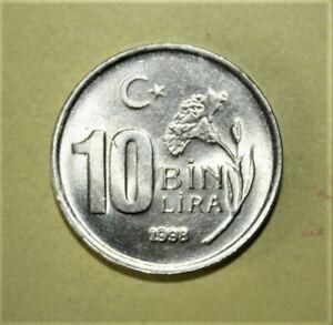 Turkey 10000 Lira 1998 Brilliant Uncirculated Coin -  Thinner Planchet ***Scarce