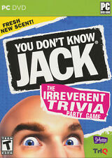 YOU DON'T KNOW JACK The Irreverent Trivia Party PC Game for Windows XP-7 - NEW!