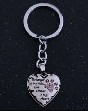 No longer by my side forever in my heart Pet Dog Keychain Keyring Memorial pink