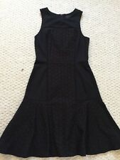 J Crew New Collection Tall Paneled Eyelet Dress Black Size 4 Sold Out!$148 A7518