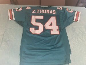 Adult 48 AUTHENTIC WILSON ZACH THOMAS MIAMI DOLPHINS JERSEY Clean Pro Equipment