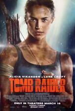 TOMB RAIDER Lara Croft 2018 Original Mini Promo Movie Poster Alicia Vikander