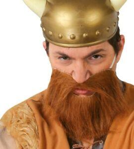 Viking Beard Adult Mens Brown Medieval Fancy Dress Costume Accessory Ginger Tash