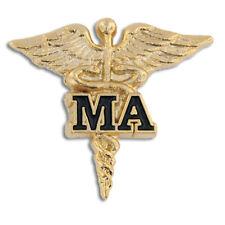 MA GOLD CADUCEUS MEDICAL ASSISTANT PIN