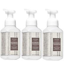 3 Bath & Body Works White Barn RASPBERRY TANGERINE Gentle Foaming Hand Soap