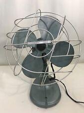 "Vintage Hunter Zephair 12"" Electric Oscillating Metal Fan; parts/repair"