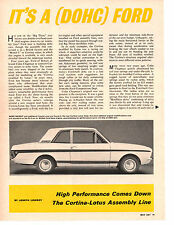 1967 CORTINA-LOTUS  ~  ORIGINAL 2-PAGE ARTICLE / AD