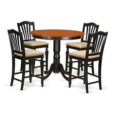 5 Pc Counter Height Table And Chair Set-Pub Table And 4 Kitchen Bar Stool NEW
