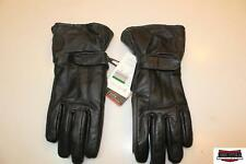 Woman's Large Black Leather Motorcycle Motor Cycle Gloves 091601
