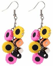 Liquorice Allsorts Cluster Earrings,Fun and Quirky Jewellery.  UK seller