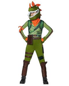 "Spirit - Fortnite ""Rex"" 9 Piece Costume - Youth Medium (8-10) New (Halloween)"