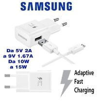 Caricabatteria Rapido + Cavo Samsung Originale Fast Caricatore Galaxy S4 S5 S6 S