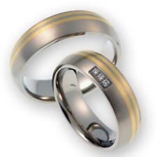 CORE by Schumann Design Trauringe Eheringe aus 585 Gold (14 Karat) Gelbgold/Titan Bicolor mit Echten Diamanten