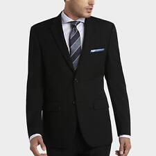 $1195 PRONTO UOMO Men Modern Fit Wool Suit Black 2 PIECE JACKET PANTS Italy 38R