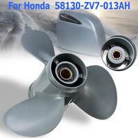 For Honda 25-30HP 58130-ZV7-013AH Aluminum Boat Outboard Propeller 9 7/8 x 13