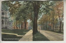 1914 POSTCARD - TRINITY AVENUE LOOKING WEST - LOWVILLE NEW YORK