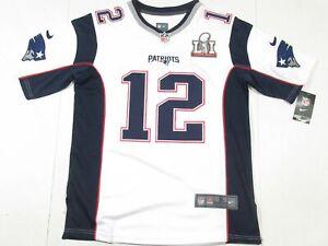 New Tom Brady #12 New England Patriots Super Bowl LI 51 Jersey White