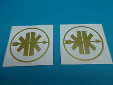 Kreidler Aufkleber Sticker Logo Emblem gold NEU