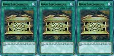 Gold Sarcophagus YGLD-ENC26 1st (Mint X 3) YUGIOH *** Ultra ***Rare Spell Cards