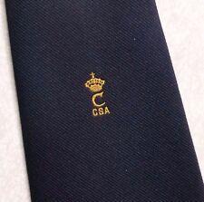 Vintage Tie MENS Necktie Crested Club Association Society CROWN
