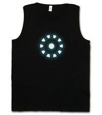 Arc Reactor I Tank Top Gym T-Shirt Iron Avengers Tony Stark on Mark Harrier