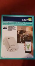 Leviton Plug-In Dimmer with Z-wave White Dzpd3-2Bw