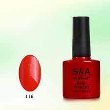 SA116 Bluesky Soak Off UV LED Gel Nail Polish Fiery Orange Pearl