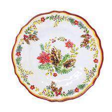 Le Cadeaux Noelle Triple Quality Holiday Melamine Salad Plates - Set of Six  sc 1 st  eBay & Holiday Melamine Dinnerware Plates | eBay