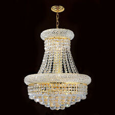 Palace Bagel 8 Light Crystal Chandelier Ceiling Light Gold  16x20