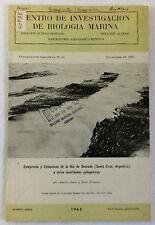 1965 Centro De Investigacion De Biologia Marina Booklet~ Buenos Aires, Agrentina