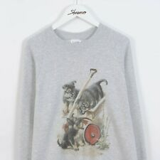 Vintage 90s Alsatian Dog Graphic Print Sweatshirt Sweater in Grey Size XL Retro