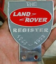 Land Rover Owners Club Series 1 2 2a 3 Front Panel Metal Grille Badge VINTAGE ss