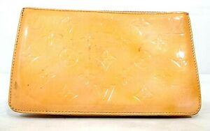 Louis Vuitton Handbag Lexington Yellow Vernis Patent Leather Mini Clutch *POOR*