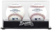 Atlanta Braves Two Baseball Cube Logo Display Case - Fanatics