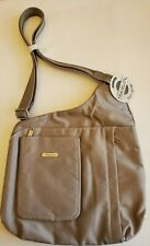 Travelon Tan Anti-Theft Crossbody Travel Bag Purse - New