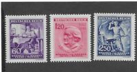 Complete  MNH Stamp set / Richard Wagner / 1943 German Occupation B a M / WWII