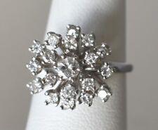 14k White Gold Natural .75 ctw Diamond Ladies Ring ~ Size 7
