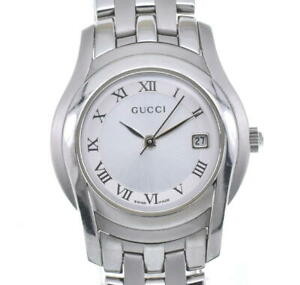 GUCCI 5500L Silver Dial Quartz Ladies Watch Q#99702
