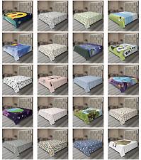 Ambesonne Cartoon Drawing Flat Sheet Top Sheet Decorative Bedding 6 Sizes
